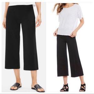 Eileen Fisher wide leg gauchos pull on size medium